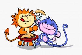 猴子和狮子