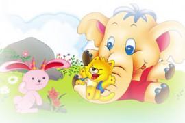 大象救兔子