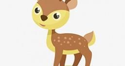 小鹿的犄角和腿
